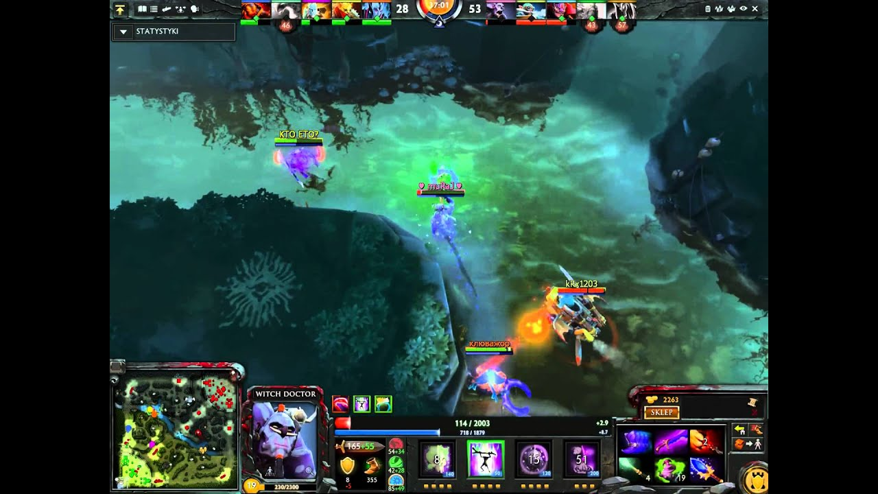 dota 2 witch doctor super killer carry build youtube