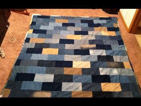 Brick Wall Blues Denim Quilt Pt 1 Youtube