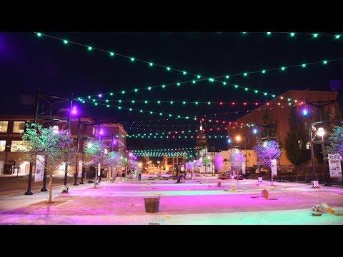 Lights go on at Bicentennial Plaza