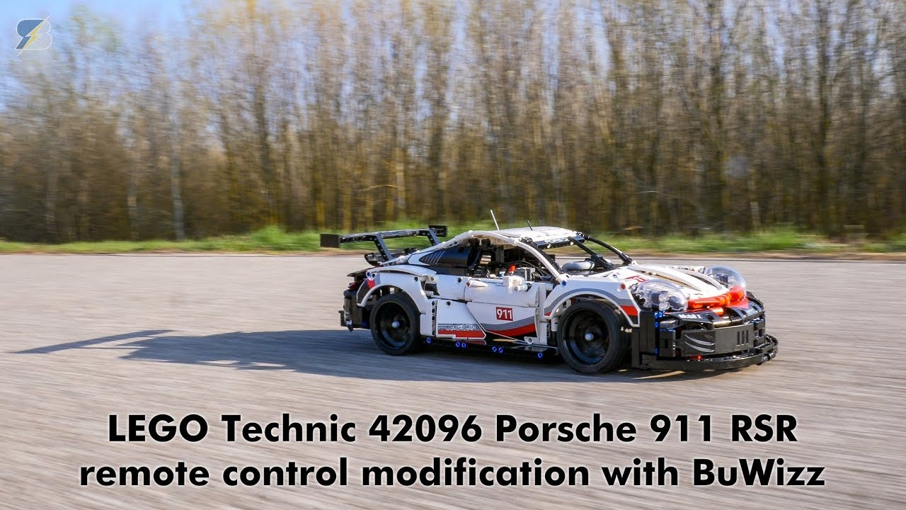 lego technic 42096 porsche 911 rsr buwizz rc mod with. Black Bedroom Furniture Sets. Home Design Ideas
