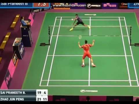 QF Men's Single - MACAU Open 2016, Zhao Jung Peng VS Sai Praneeth