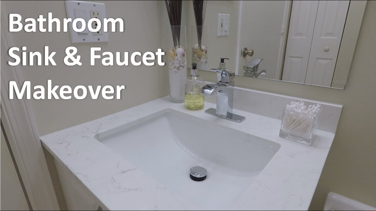 DIY Vanity Sink and Faucet Replacement - YouTube
