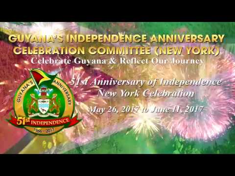 Guyana 51 st Independence Banner