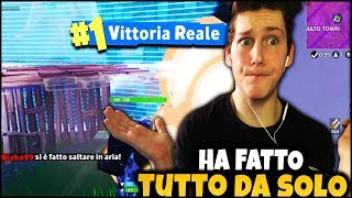 FORTNITE ITA : INCREDIBILE REAL VITTORY in LIVE ! HE DID IT ALL BY HIMSELF!