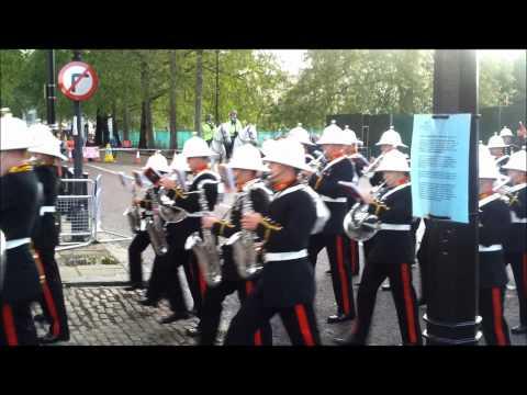 Massed Bands Of H.M. Royal Marines 07-06-12 Wellington Barracks