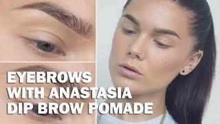 Eyebrows with Anastasia Dip Brow Pomade (with subs) - Linda Hallberg Makeup Tutorials Thumbnail