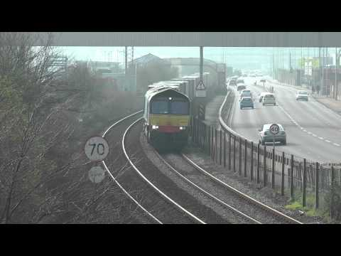 *NEW FREIGHT FLOW EXCLUSIVE* 66423 4A13 Grangemouth to Aberdeen with Stobart Rail 150312