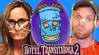 HUGE Hotel Transylvania 2 Movie Frankenstein Play Doh Halloween Surprise Egg Toy Guessing Challenge!