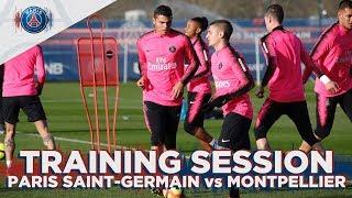 TRAINING SESSION - PARIS SAINT-GERMAIN vs MONTPELLIER