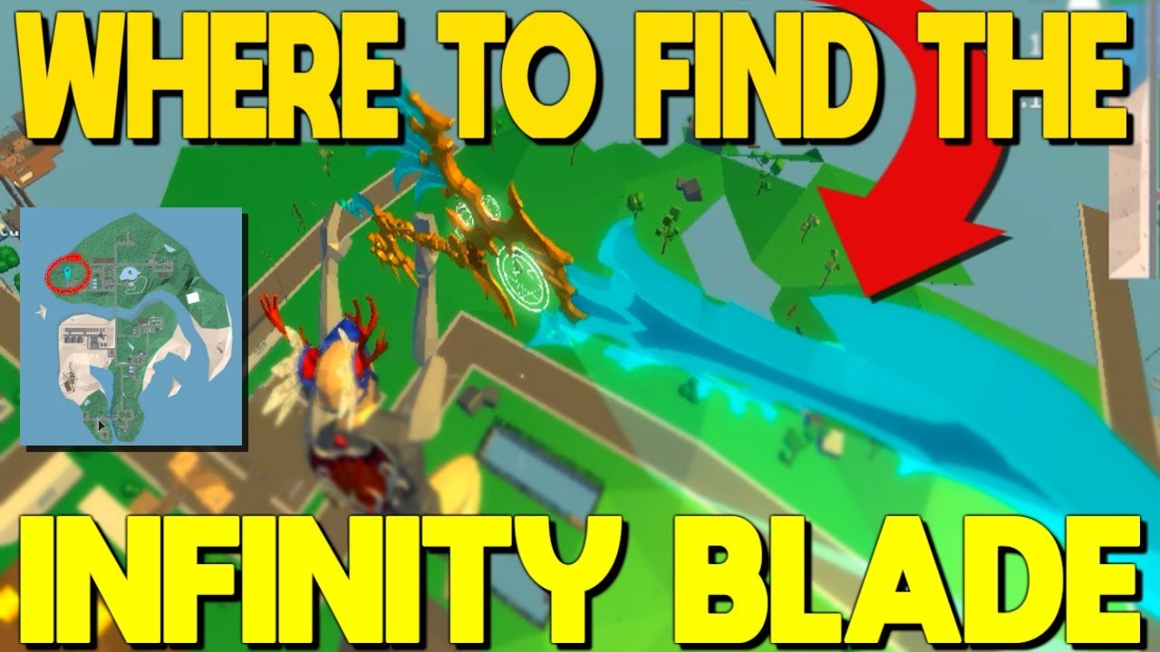 All The Locations Of The Infinity Blade In Strucid ...