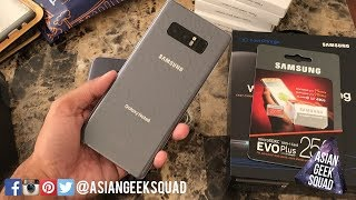 Unboxing - Samsung Galaxy Note 8 - Orchid Gray