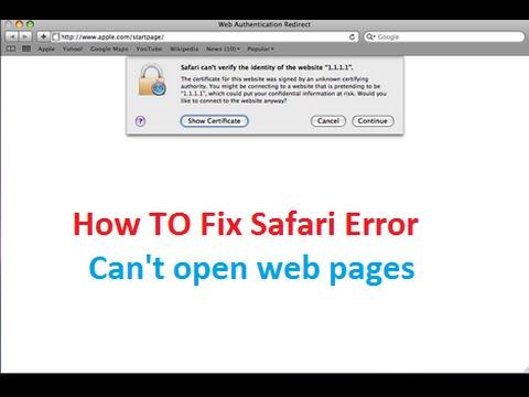 Safari can't verify the identity of the website Macbook Apple Fix