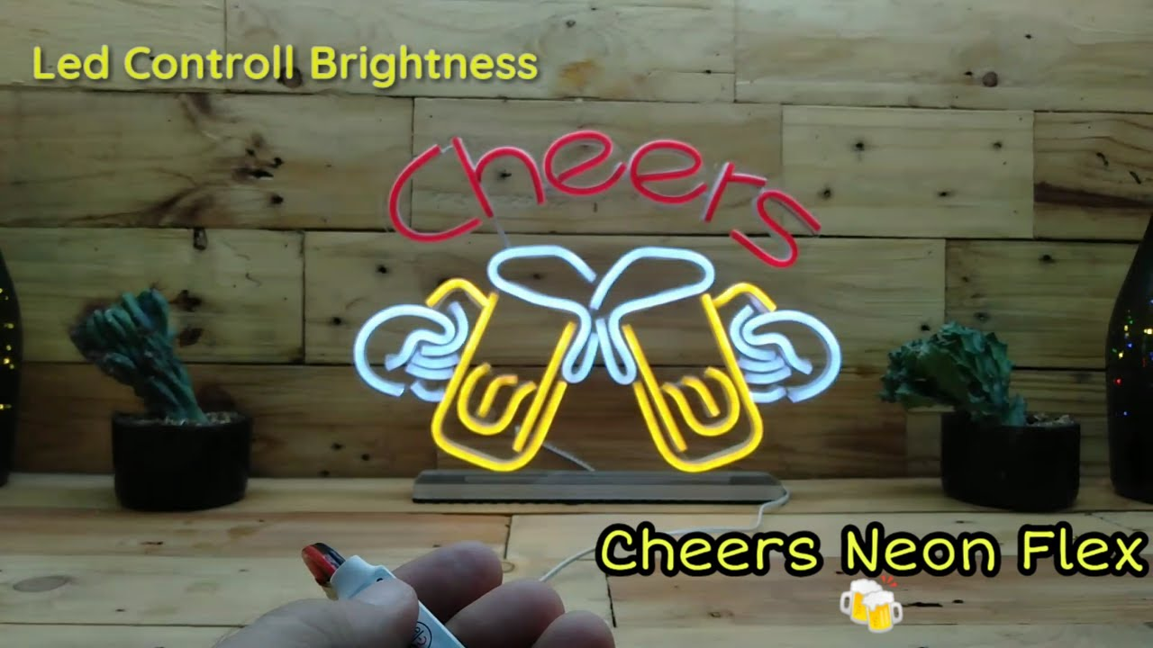 Cheers Neon Flex Lights Using Led Control Brightness Youtube