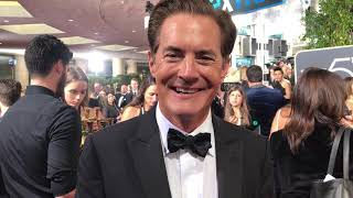 Kyle MacLachlan ('Twin Peaks') Golden Globes 2018 red carpet exclusive interview