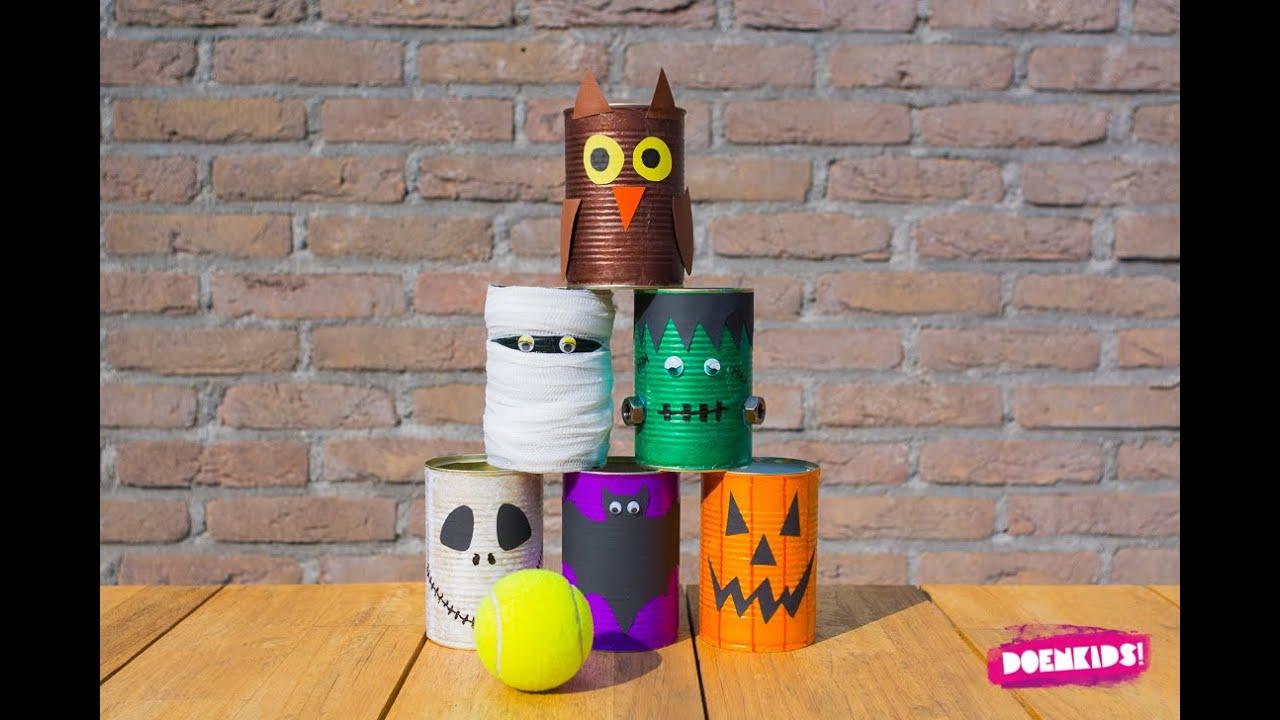 Knutselen Halloween Groep 3.Halloween Knutsel Griezelblikkengooispel