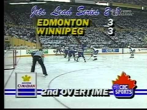 Winnipeg Jets Dave Ellett Scores In 2OT 1990 HIGH QUALITY