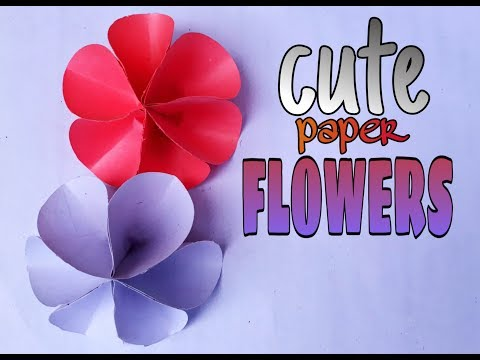How to make paper flowers-cute flower/origami flowers/diy paper crafts.