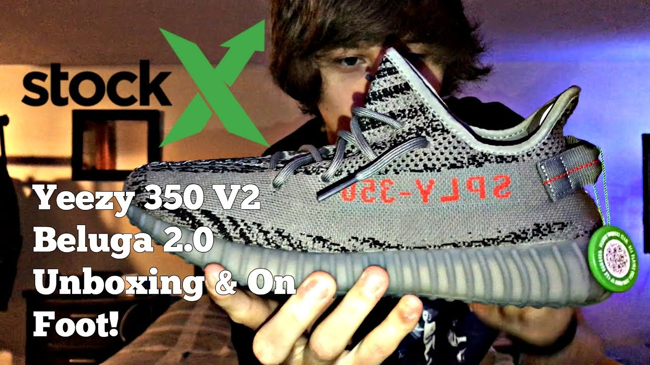 best service edb5f 8865b Are YEEZYS from STOCKX Legit? Adidas Yeezy 350 V2 Beluga 2.0 Unboxing and  On Feet!