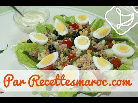 Salade Niçoise - Fresh Summer Salad - سلطة نيسواز