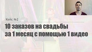 Кейс №2: Как получить 10 заказов на свадьбы за 1 месяц с помощью 1 видео. Аль-Ватар Алексей
