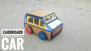 How To Make Cardboard Car | Best Out Of Waste Cardboard Craft Idea | Cardboard Craft For Project
