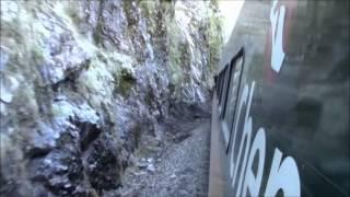 El Tren Chepe, e/ Cuiteco y Bahuichivo, México 01/Jan/2014 #1 メキシコ鉄道、クイテコ駅からバウイチボ駅へ