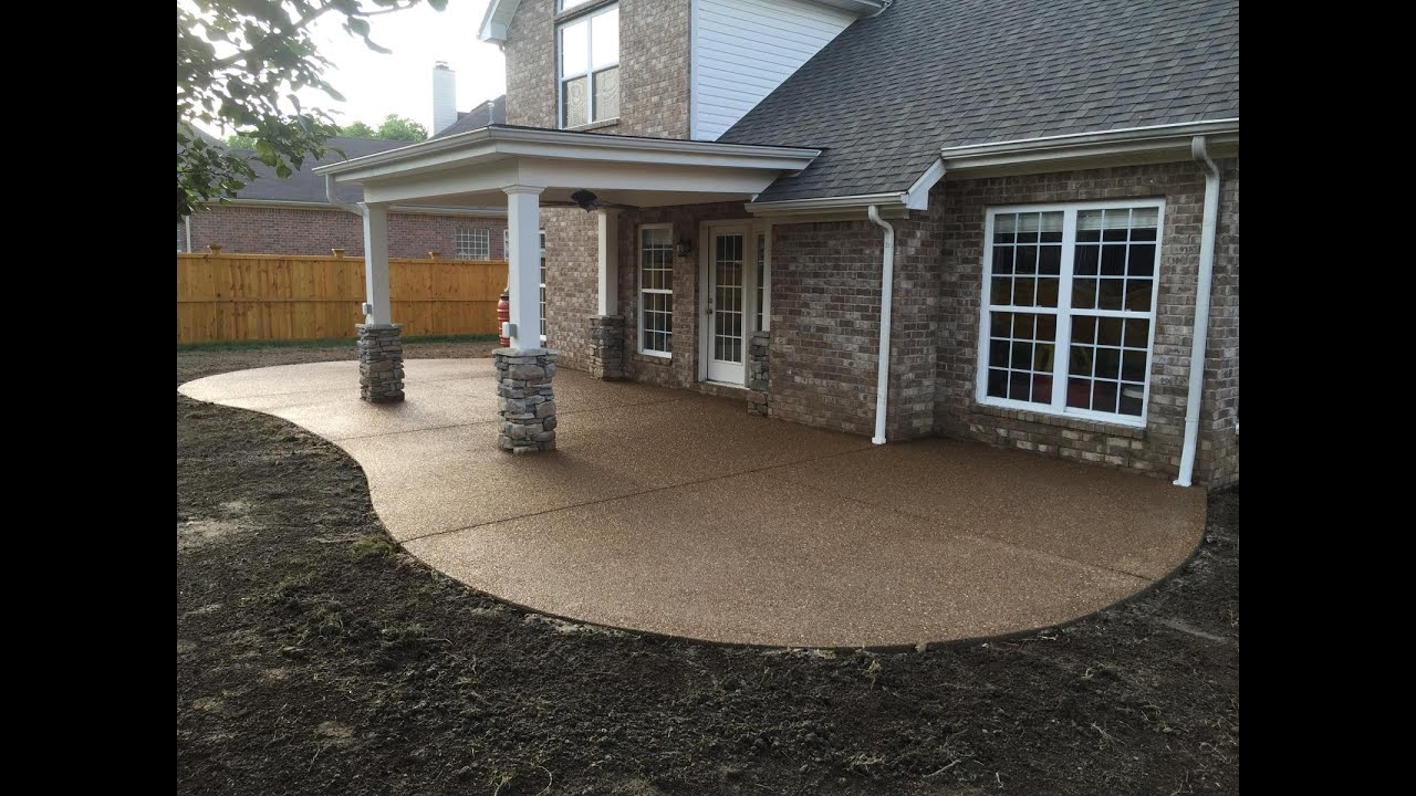 Beau Exposed Aggregate Patio In Time Lapse   YouTube