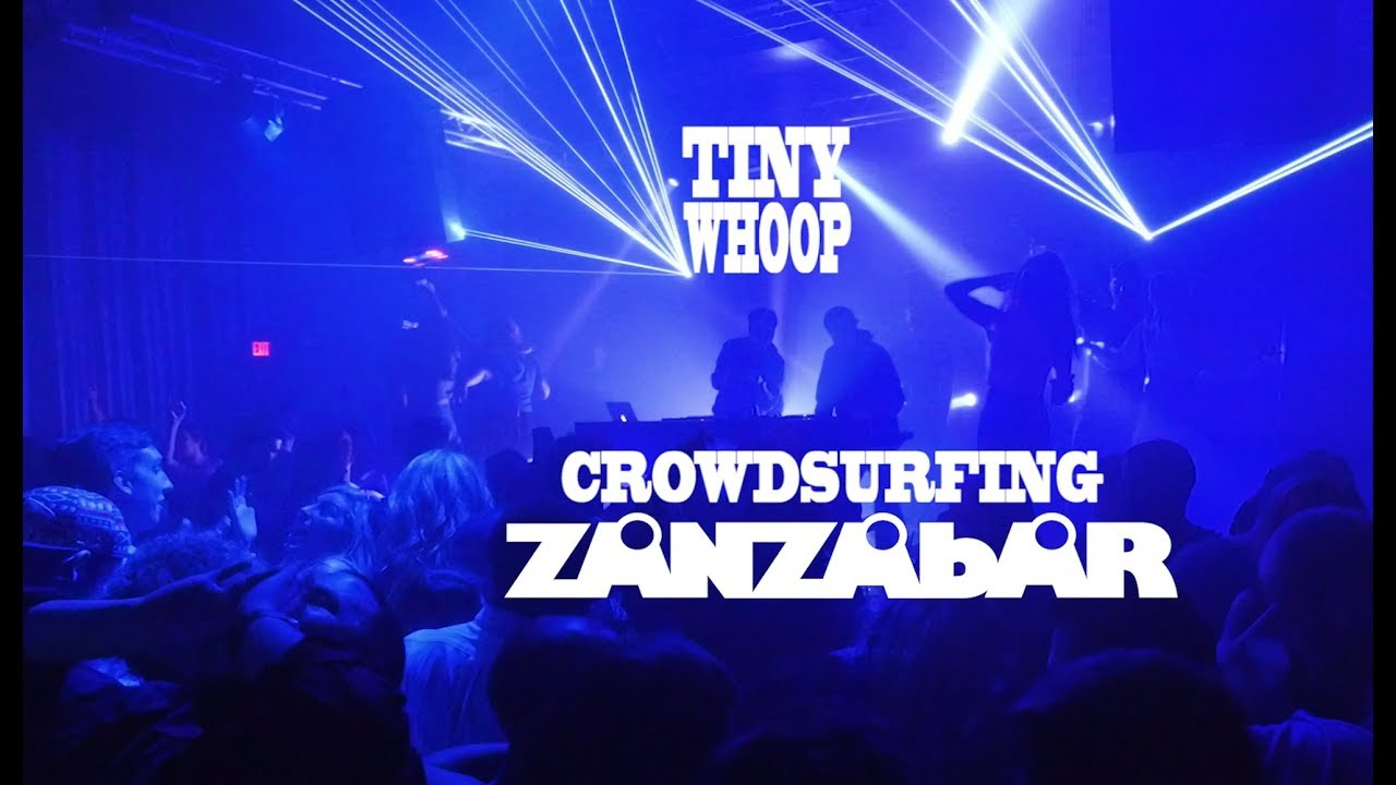 DRONES INVADE DANCE CLUB – Crowdsurfing Zanzabar…