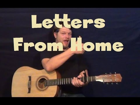 Letters From Home (John Michael Montgomery) Easy Guitar Lesson How to Play Tutorial