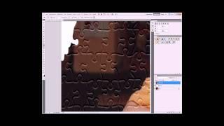 Видео урок в фотошопе как сделать фото пазл