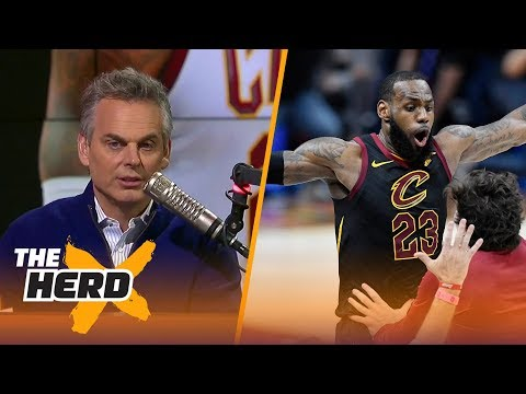 Colin reacts to LeBron's Game 5 buzzer-beater against Pacers, Westbrook's 45-point Game 5 | THE HERD
