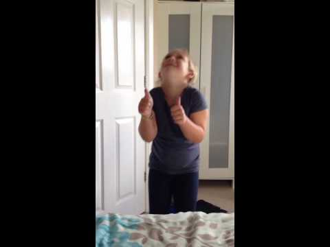 Sister. Dancing to her favourite sons  chi WA WA song