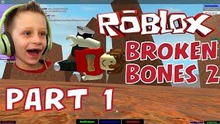 Roblox: Broken Bones 2 #1, insane falling and breaking bones! | KID GAMING