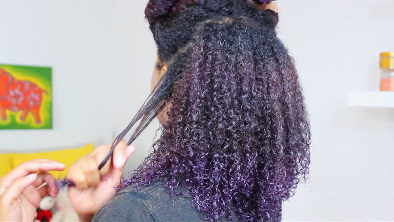 Natural Hair Wash Day Routine For Color Treated Hair Youtube