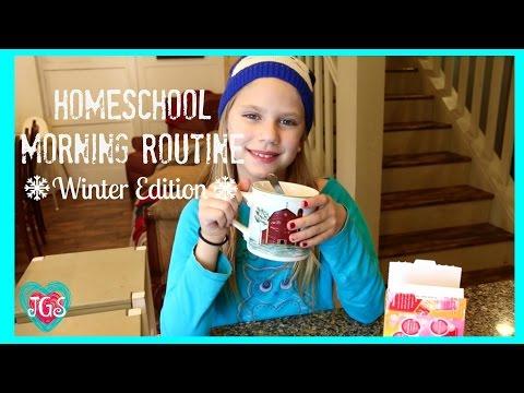 School Morning Routine | Hope's New 2016 Winter Edition Homeschool | Best Friends