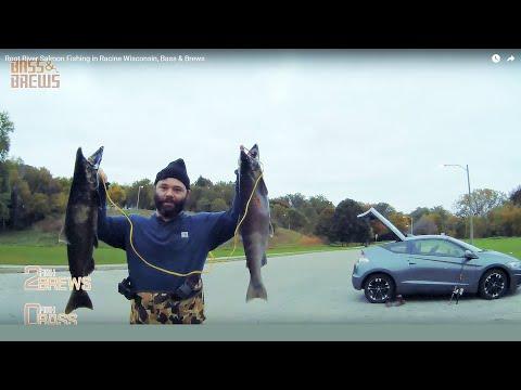Root River Salmon Fishing In Racine Wisconsin, Bass & Brews