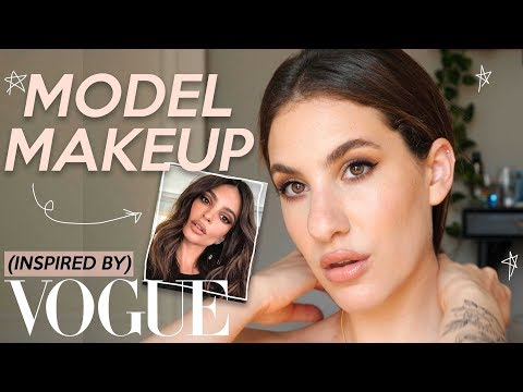 TRYING MODEL MAKEUP: A Vogue Inspired GRWM | Jamie Paige