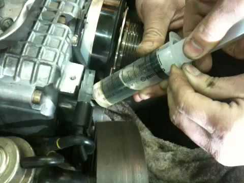 replacing supercharger oil on c32 youtube