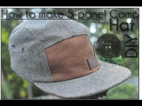 9483a10a559fe6 How to make 5 panel Camp Hat | ProperFit DIY - YouTube