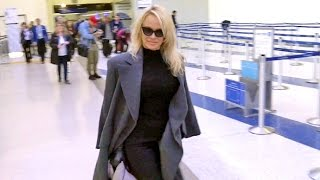 Pamela Anderson Smiles When Asked If She