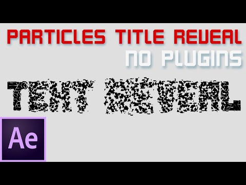Particles Forming Into Text. After Effects Tutorial. No Plugins.