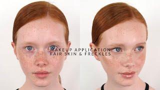 Natural Makeup Application | Fair Skin & Freckles