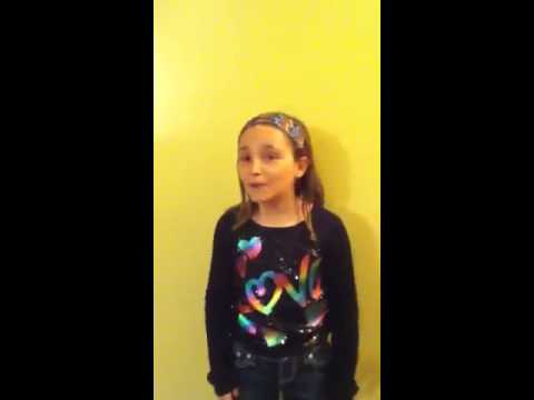 Your Hands (JJ Heller) sang by 9 year old Marion Bradley