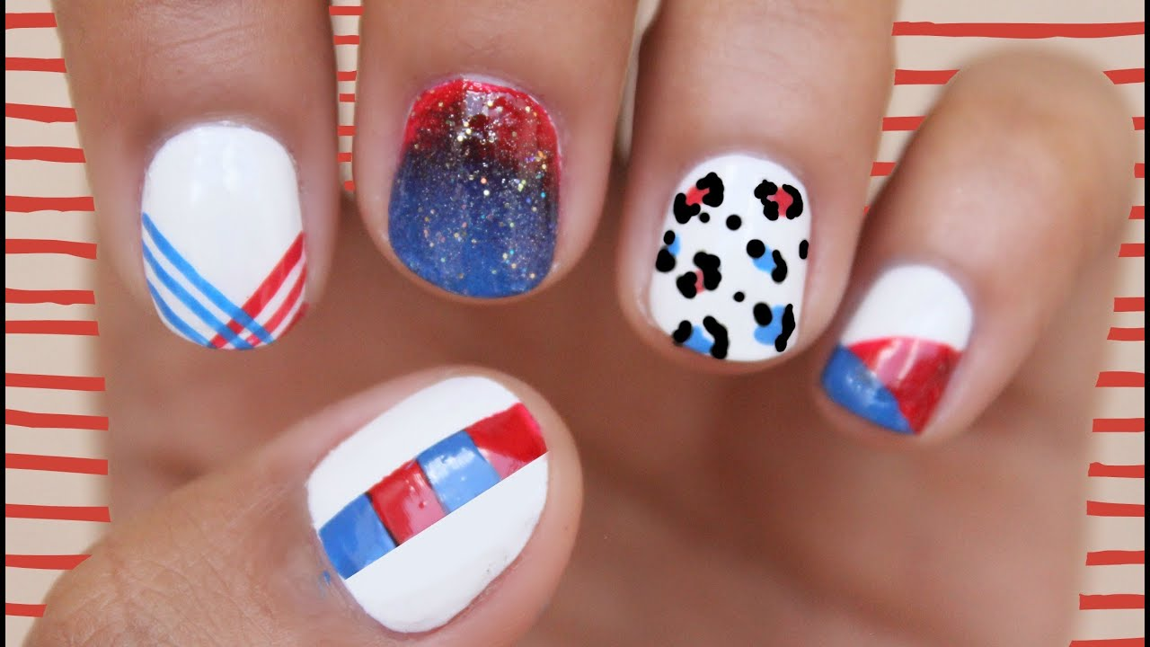 Nail Art for Fourth of July 2014: The Ultimate Guide! - YouTube