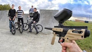 One of boqer123's most viewed videos: BMX PAINTBALL 2