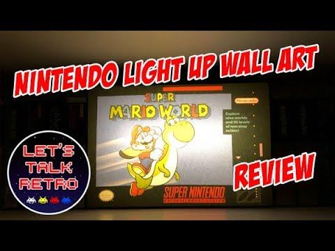 Nintendo Light Up Wall Art Review Youtube