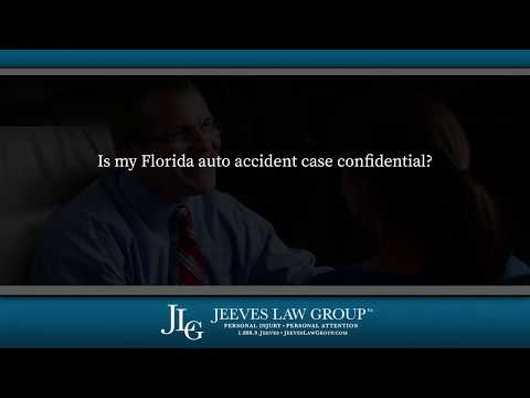 Is my Florida auto accident case confidential?