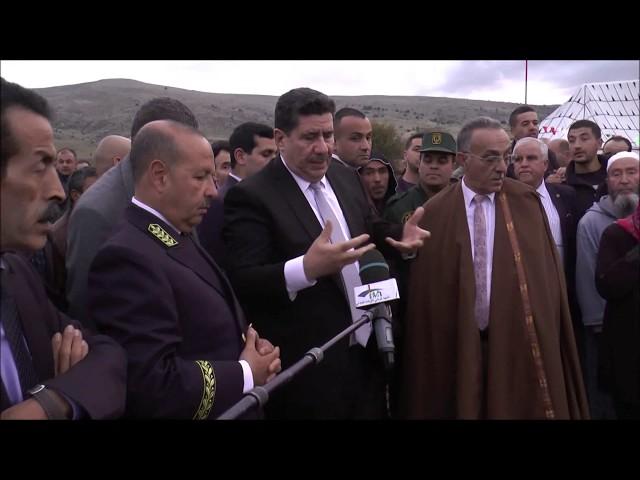 عماري وزير الفلاحة يعطي اشارة انطلاق استغلال محيط السقي الوضحة  بلدية اشملول ولاية 2019#باتنة