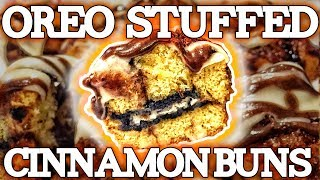 Oreo Stuffed Pumpkin Spice Cinnamon Buns!