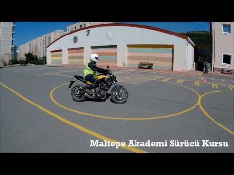 2017 Yeni Motosiklet Direksiyon Sınav Parkuru A-A1-A2 Ehliyet